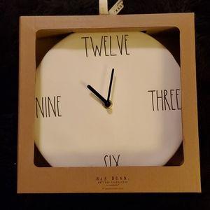 """Rae Dunn 9"""" Ceramic Wall Clock"""